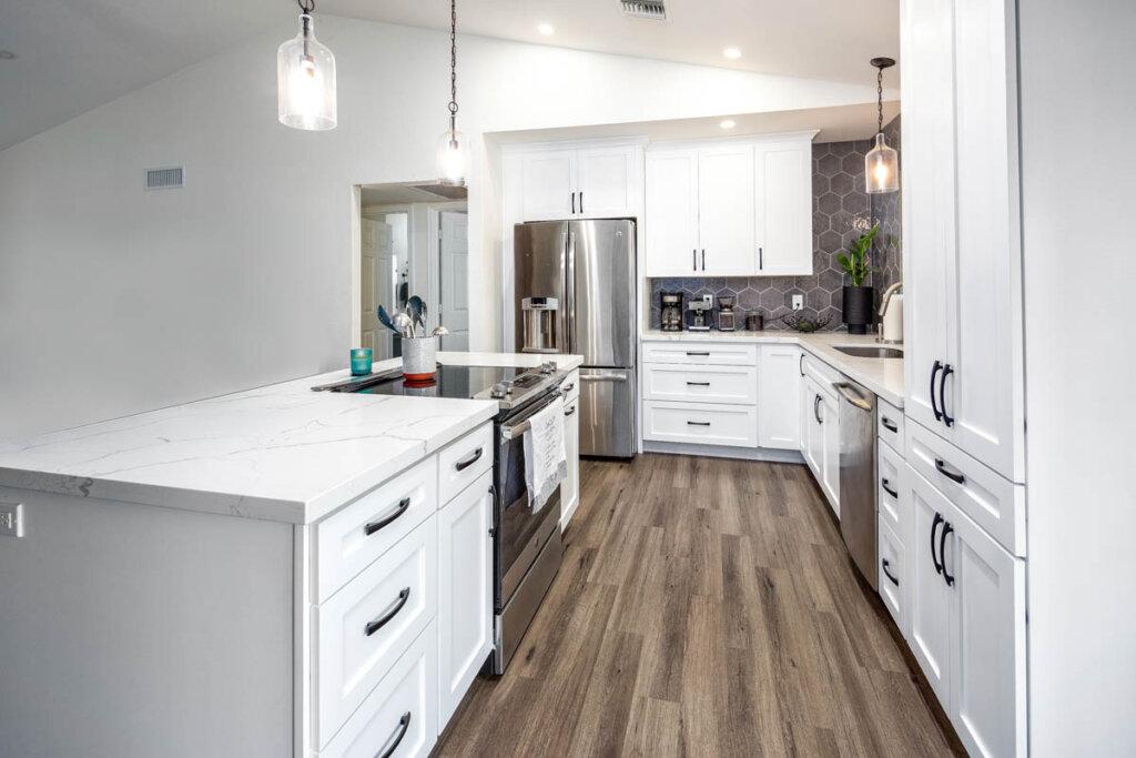 White Kitchen remodel Juanita 1